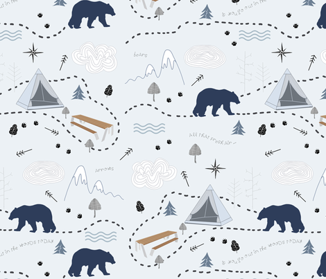 If_You_Go_Out_IN_The_Woods_Today fabric by leahstraatsma on Spoonflower - custom fabric