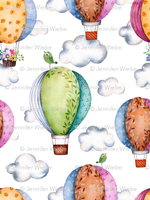 Floral Hot Air Balloons