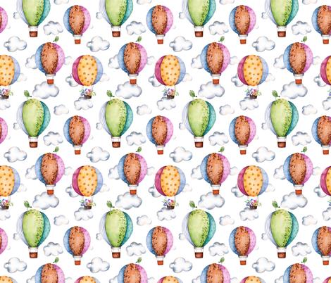 Floral Hot Air Balloons fabric by littlelambandivy on Spoonflower - custom fabric