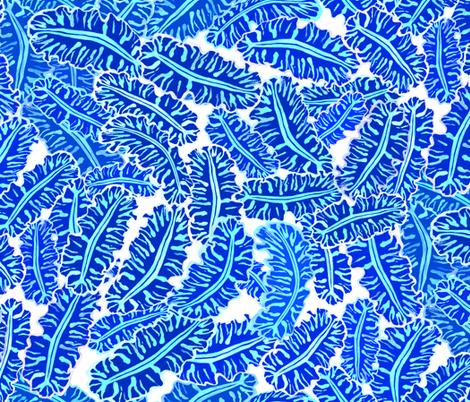 Ko'e Kai Swirl White Cobalt 200 fabric by kadyson on Spoonflower - custom fabric