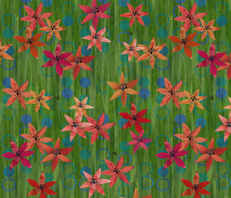 TigerLilies fabric by beckarahn on Spoonflower - custom fabric