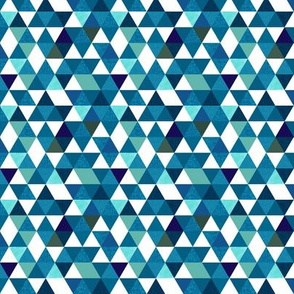 "indigo triangles // 0.5"" extra small"