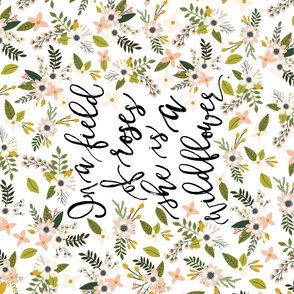 Crib Sheet // Blush Sprigs and Blooms In A Field of Roses She is a Wildflower