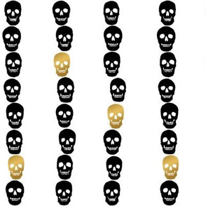 Black & Gold Skull Dots