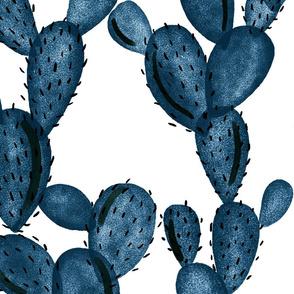 navy paddle cactus // oversized