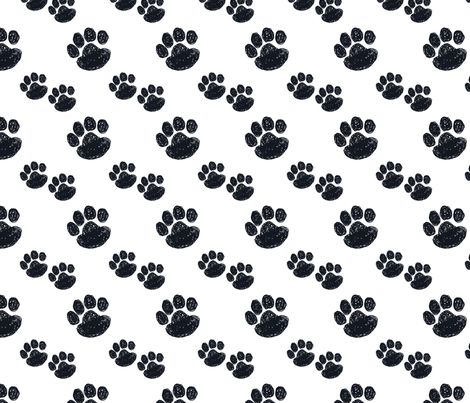Filthy Paws fabric by bebe_berd on Spoonflower - custom fabric