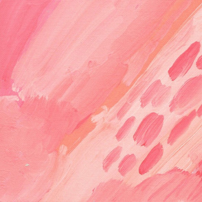 Handpainted Painterly Pink Abstract Art