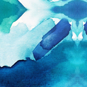The Deep End Abstract Watercolor
