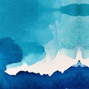 Ocean  Riptide  Abstract Watercolor