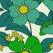 70s Floral Greenery
