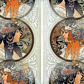 1987 Byzantine Heads Brunette & Blonde