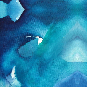 Oceans Forever Abstract Watercolor Art