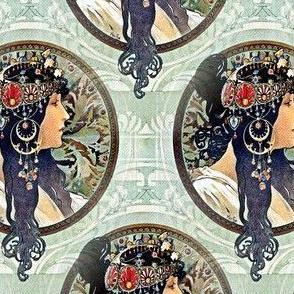 Alfons Mucha 1987 Byzantine Heads Brunette