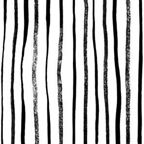 Vertical Illusion Ink Brush Stroke Stripes on white