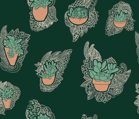 Desert Lace fabric by landfish on Spoonflower - custom fabric