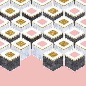 Luxurious hexagon sushi 2