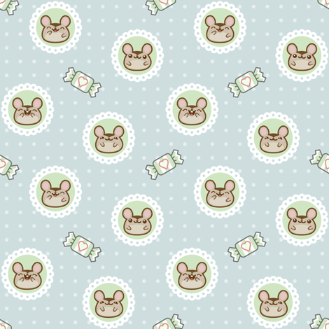 minty_mice_3 fabric by woodmouse&bobbit on Spoonflower - custom fabric