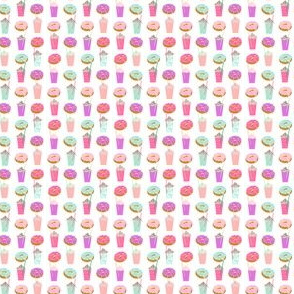 pastel donuts mini print