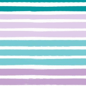 turquoise lilac lavender purple stripes fabric