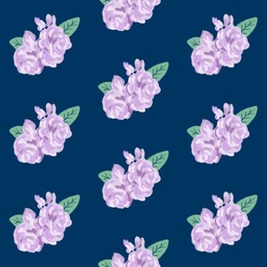 navy and purple fabric floral fabric