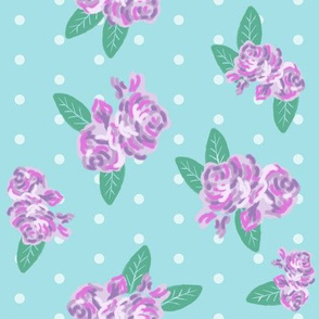 light blue purple fabric florals fabric