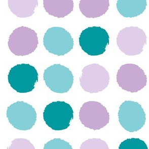 purple and turquoise dots fabric jumbo big dots fabric