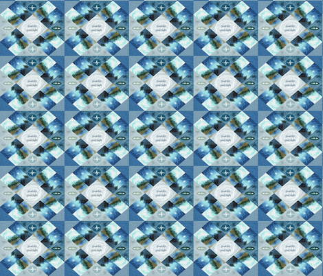 Good Day Quilt Top Whole Cloth fabric by barbarapritchard on Spoonflower - custom fabric