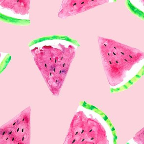 watermelon slices  - pink || fruit fabric