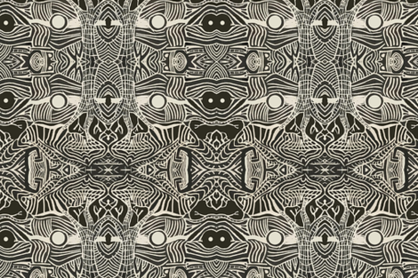 Night and Day Mudcloth fabric by litho~joe on Spoonflower - custom fabric