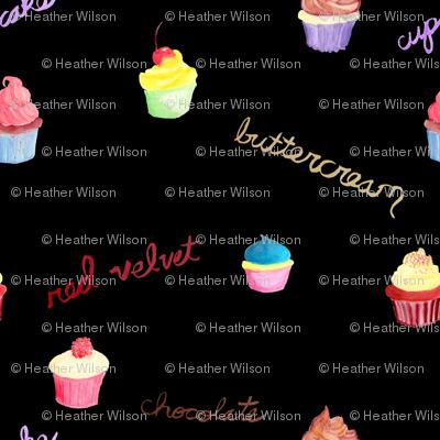 Cupcakes on Black