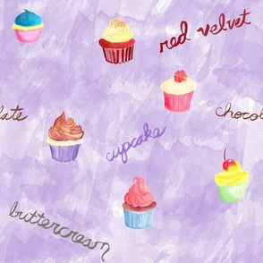 Cupcakes on Purple