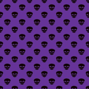 Skulls on Purple