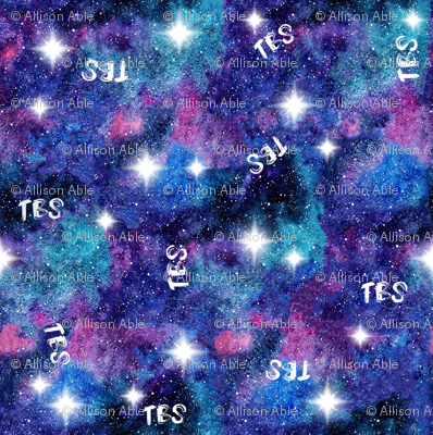 Tbs galaxy fabric aable91 spoonflower for Pastel galaxy fabric
