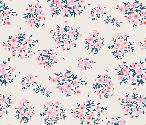 Ditsy Matisse Floral fabric by meganpalmer on Spoonflower - custom fabric