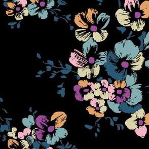 Nancy Floral - Black