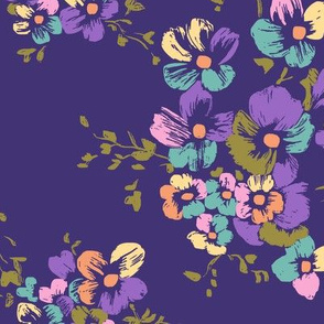 Nancy Floral - Purple