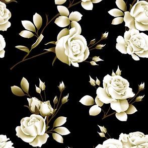 Spring Rose - Black/Tan