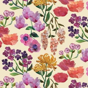 Paper Cut Garden - Cream