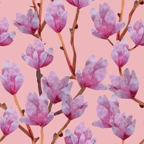Paper Cut Magnolias - Blush