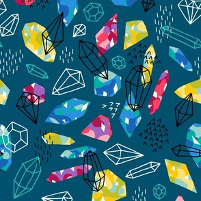 Gems and crystals dark