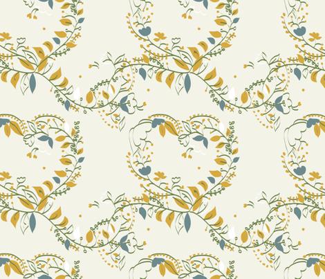 papercut_floral fabric by gemmacosgrove-ball on Spoonflower - custom fabric