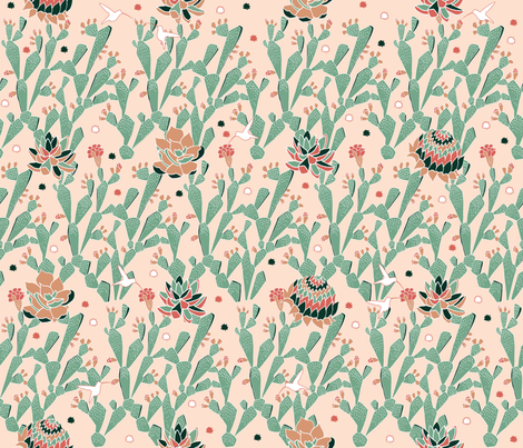 Cactus_Nectar fabric by g_lord on Spoonflower - custom fabric