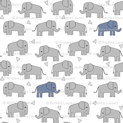 elephant fabric // nursery baby grey and blue  boys nursery design
