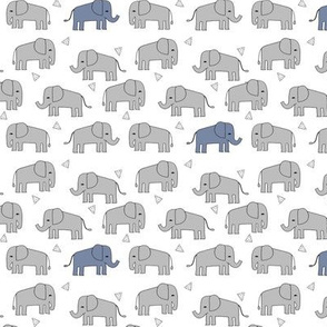 elephant fabric // nursery baby grey and blue  boys nursery design