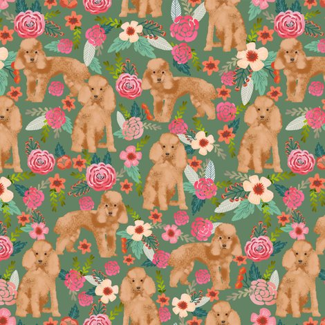 Rtoy_poodle_apricot_florals_med_green_shop_preview
