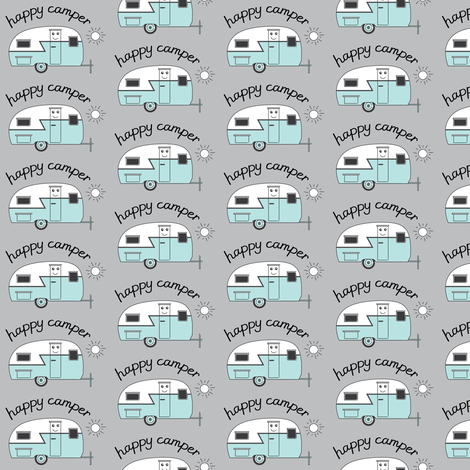 happy-camper trailer fabric by lilcubby on Spoonflower - custom fabric