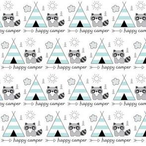 happy-camper-with-teepee & raccoon