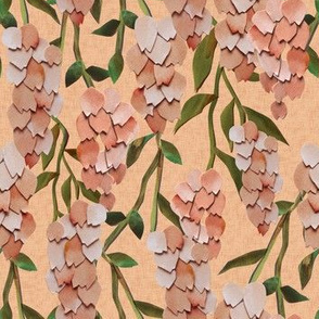 Paper Cut Bellflowers - Peach