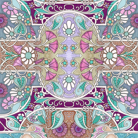 Memories of a Fantasy Spring fabric by edsel2084 on Spoonflower - custom fabric