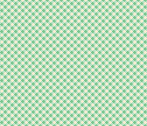 Green Gingham fabric by kimbelina79 on Spoonflower - custom fabric